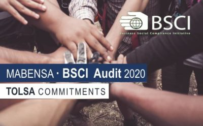 "MABENSA HAS ACHIEVED AN ""A"" RATING IN THE BSCI AUDIT"